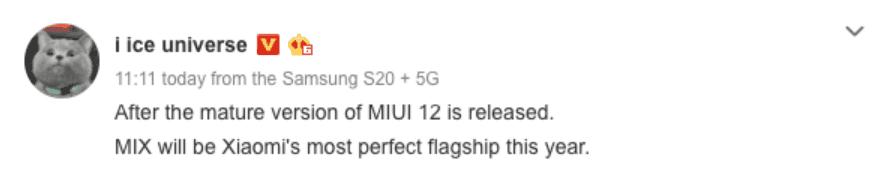 Xiaomi Mi MIX 4 series