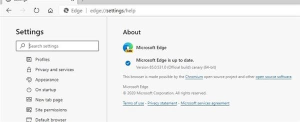 Microsoft Edge preloading pages