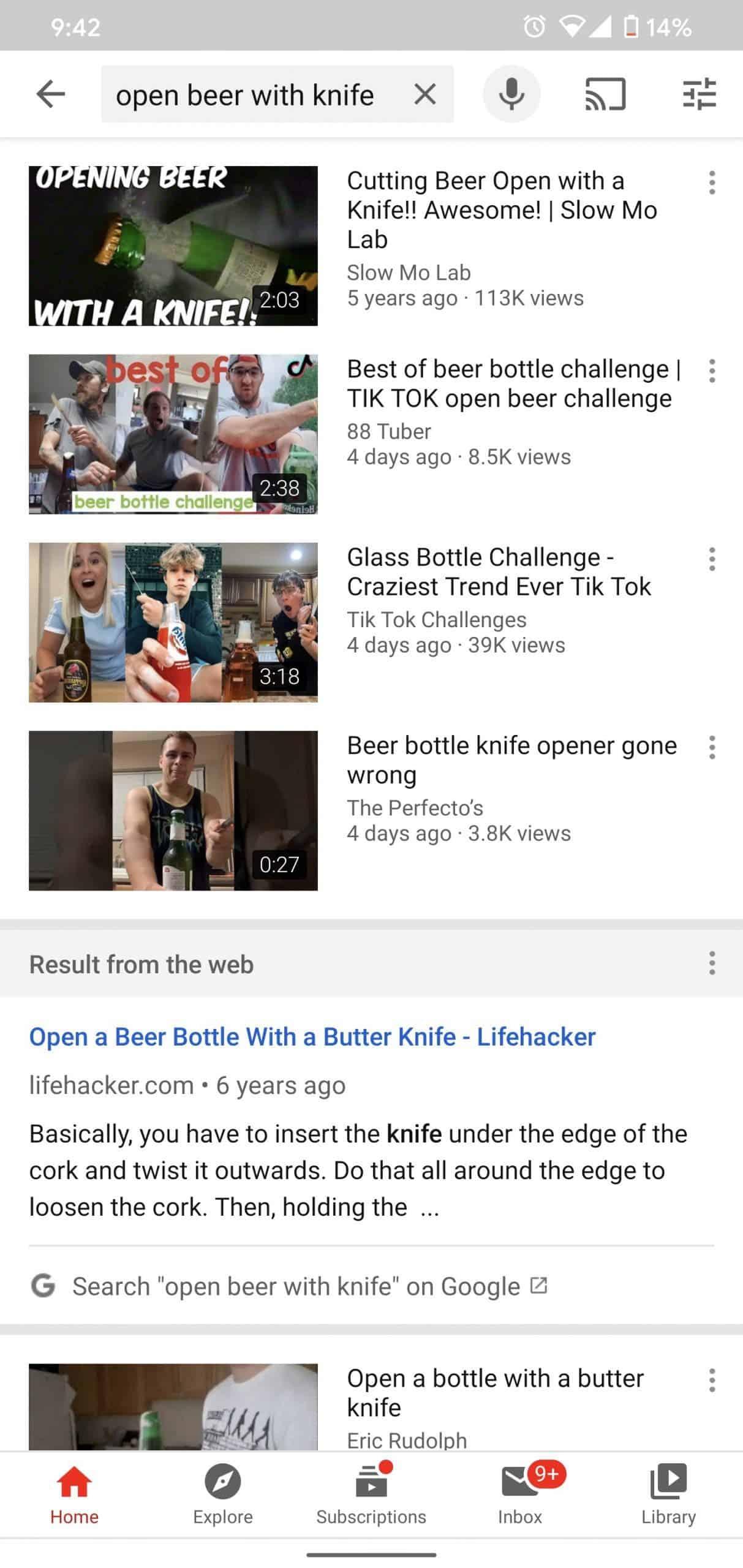 DIGBUSEL - Youtube Android Mulai Tampilkan Hasil Pencarian Dari Mesin Pencari Google Tradisional