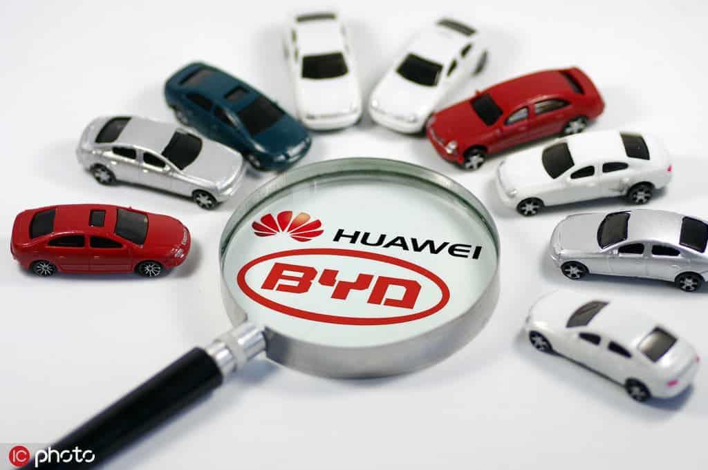 automotive market Huawei BYD