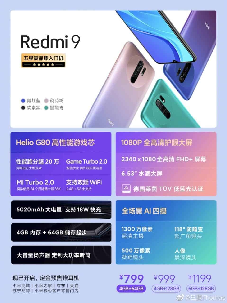 Redmi 9 Is Now Available At Pre-Order In China With An Astonishing Price Tag