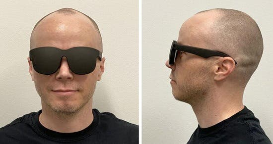 Facebook ultra-thin VR concept glasses