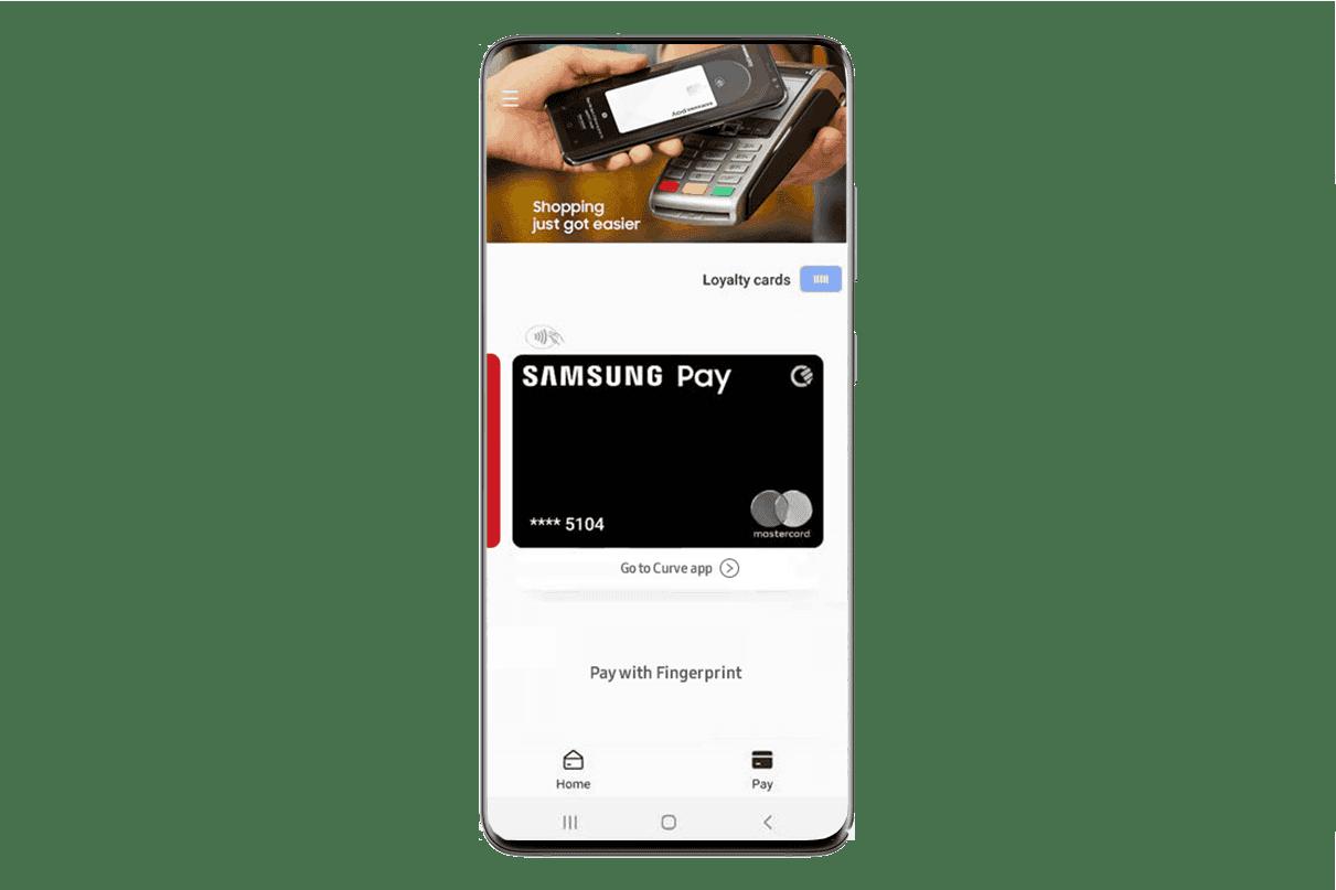 Samsung Pay Card curve