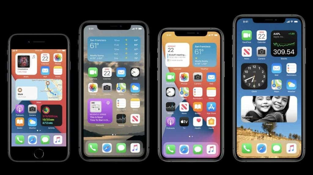 List all iPhones that will soon get iOS 14 software update