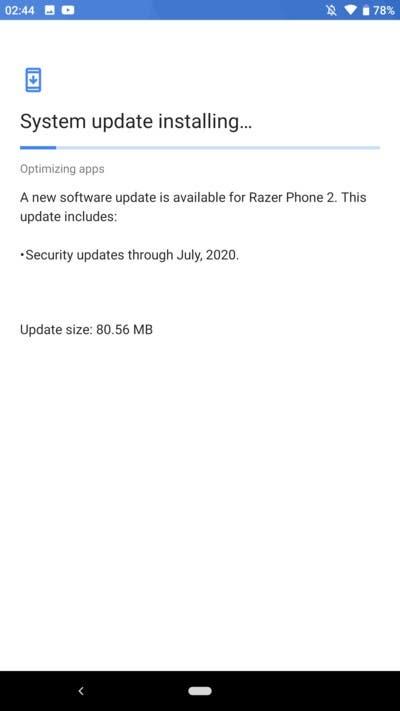 DIGBUSEL - Razer Phone 2 Menerima Pembaruan Juli 2020 Dengan Tambalan Keamanan
