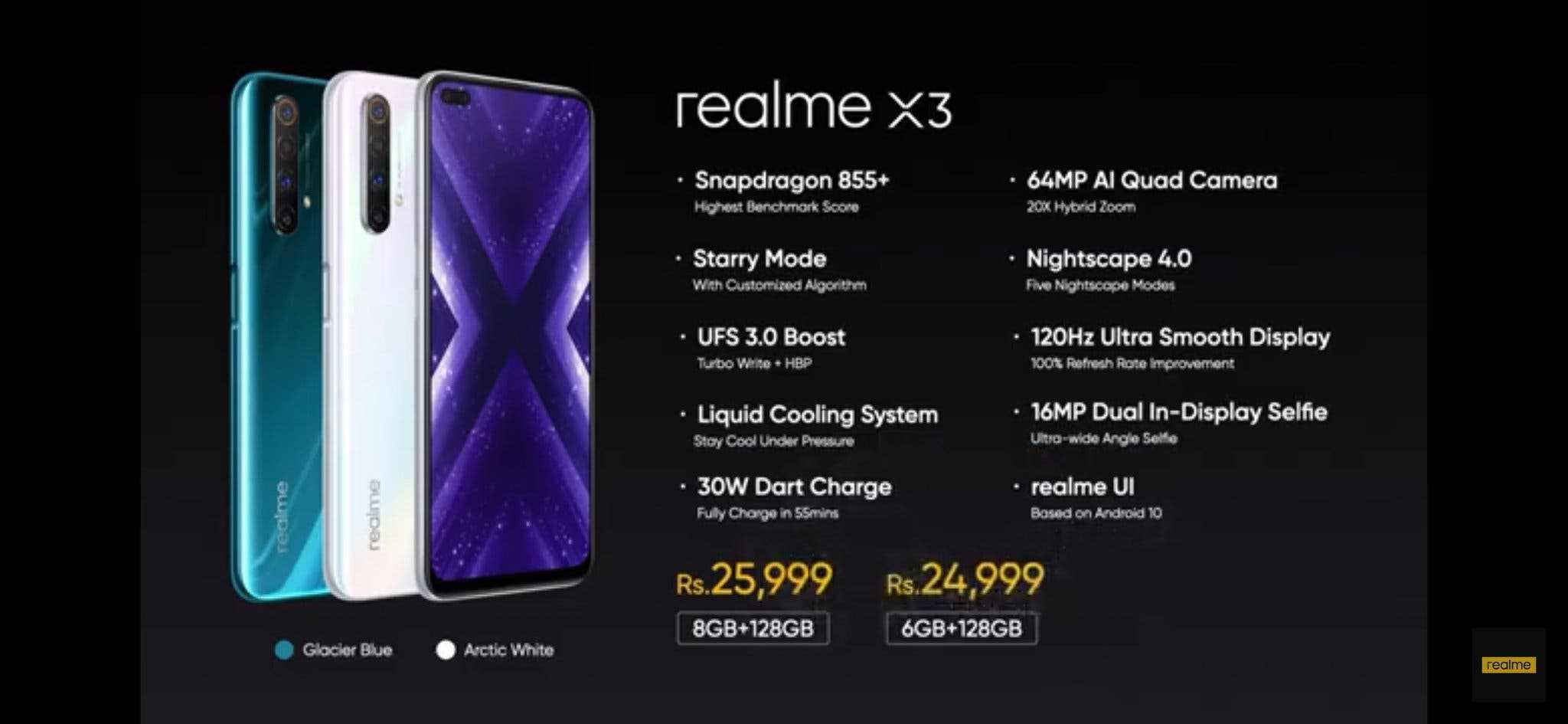 realme x3 sz prices