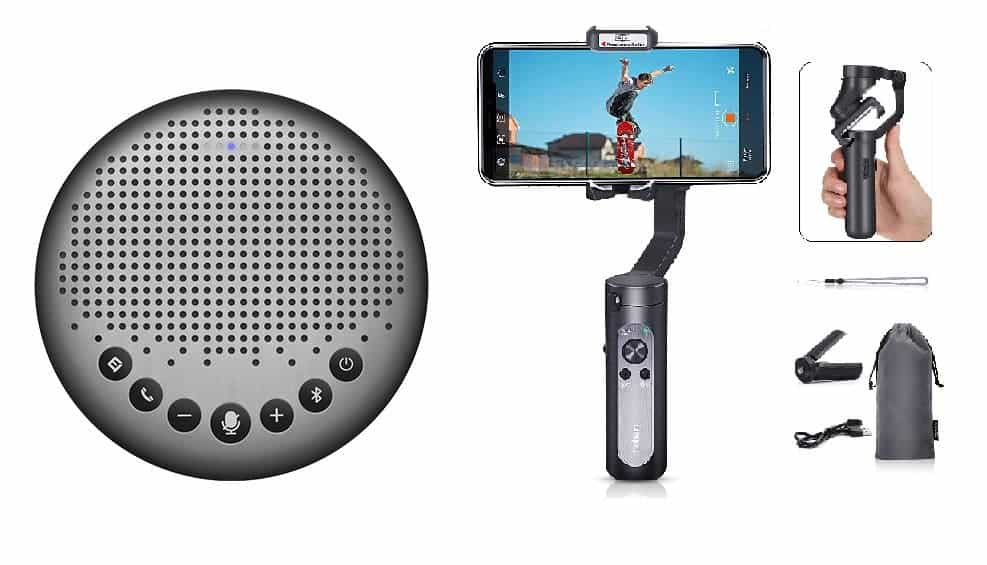 eMeet Luna Speakerphone & Hohem iSteady X Gimbal