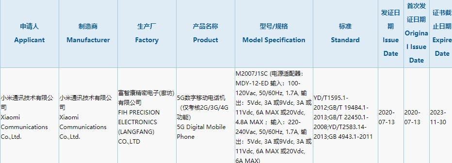 Xiaomi's upcoming flagship