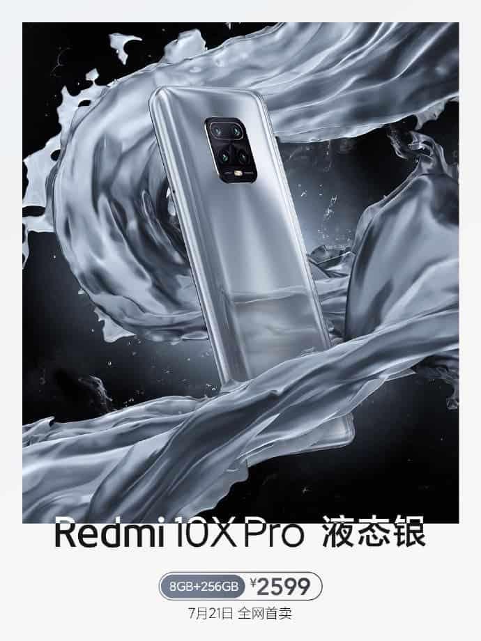 Redmi 10X Pro Liquid Silver