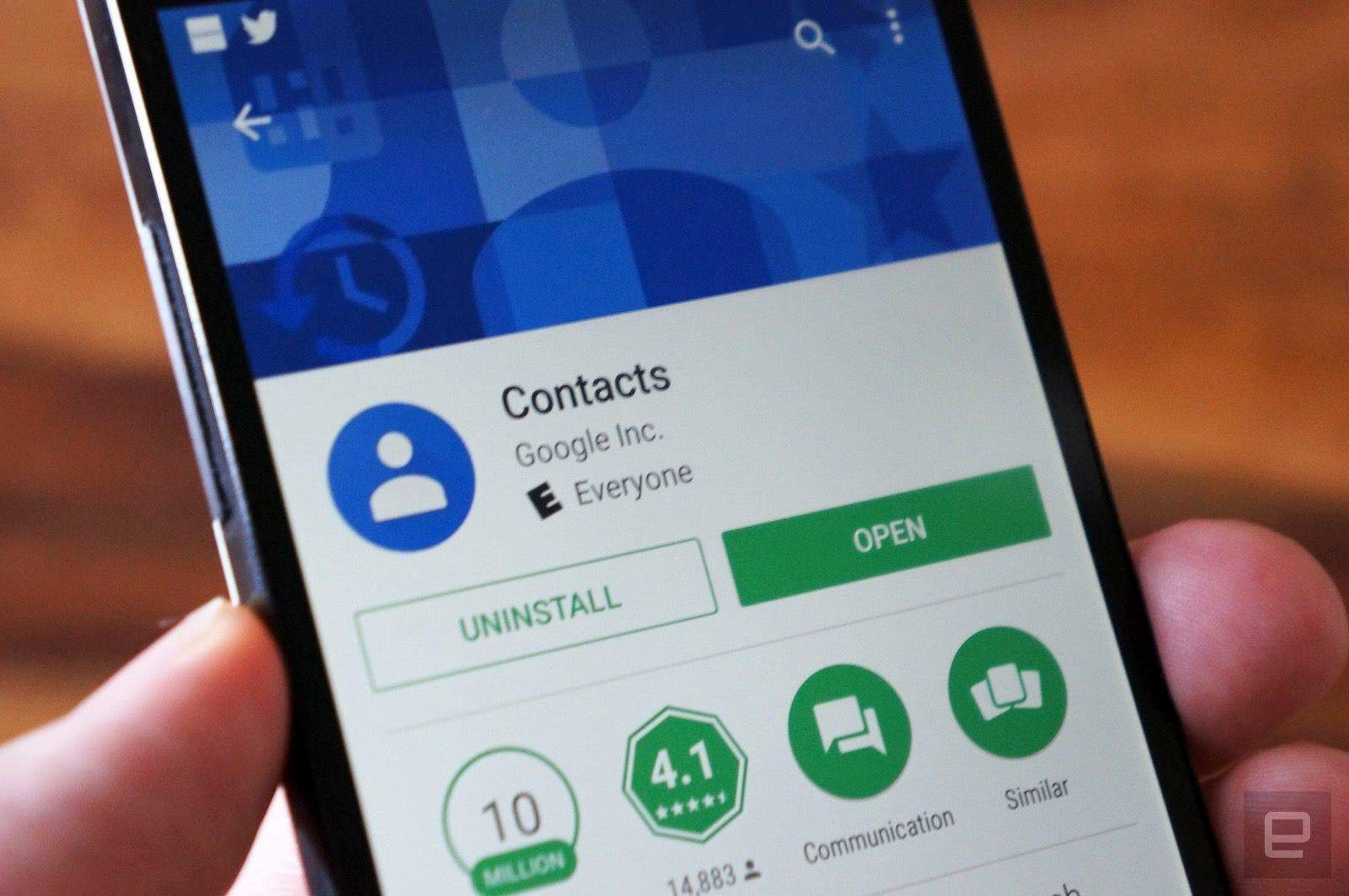 Restore deleted contacts using Contacts app