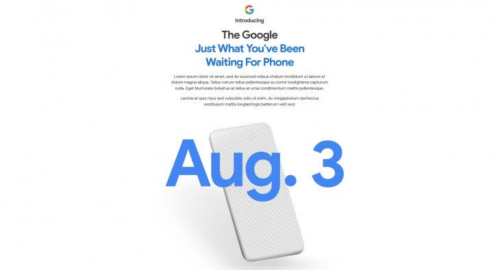 Google teases Pixel 4A release and August 3 launch date