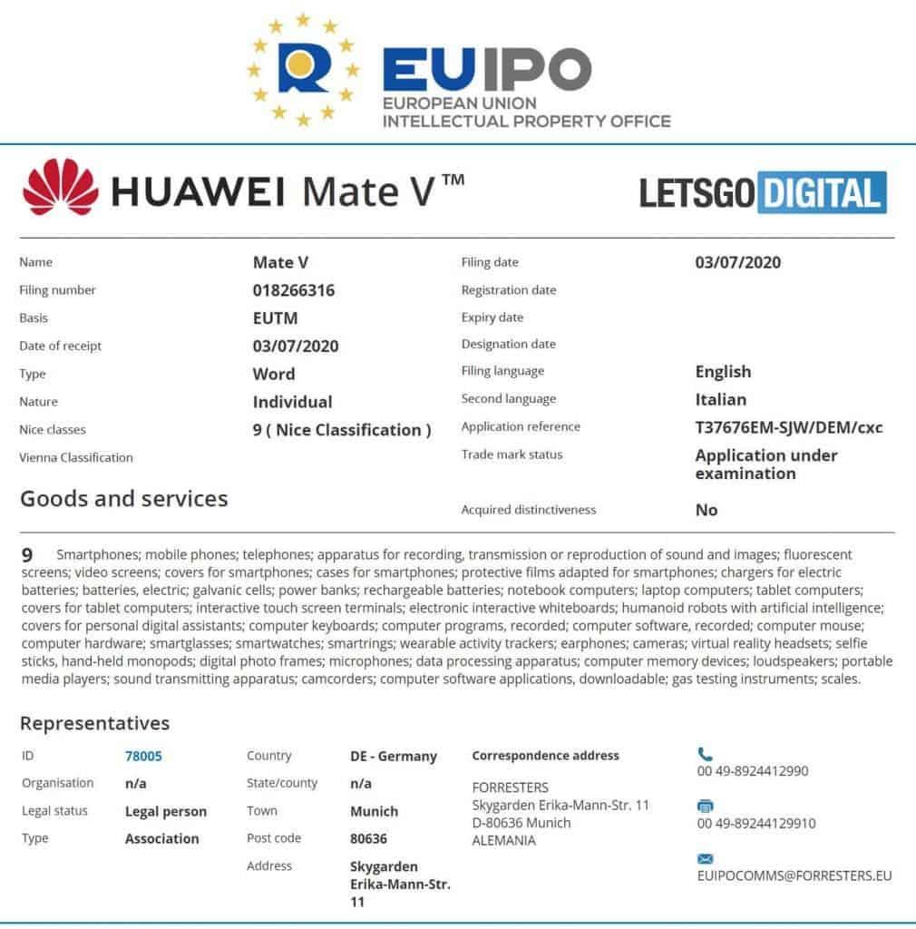 Mate V trademark