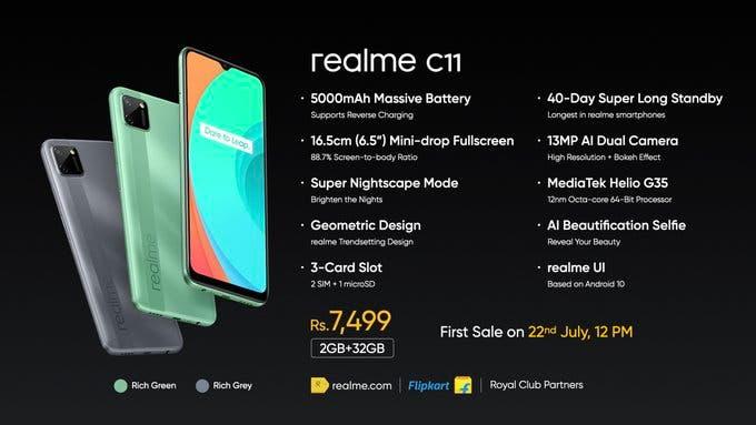 realme c11 price
