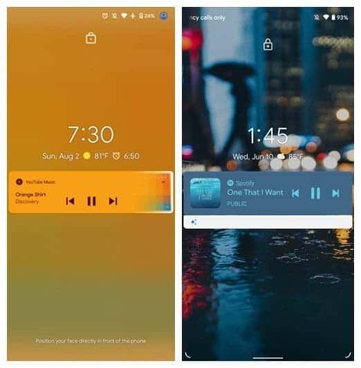 Android 11 lockscreen
