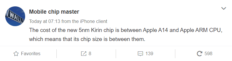 Huawei Kirin 1020