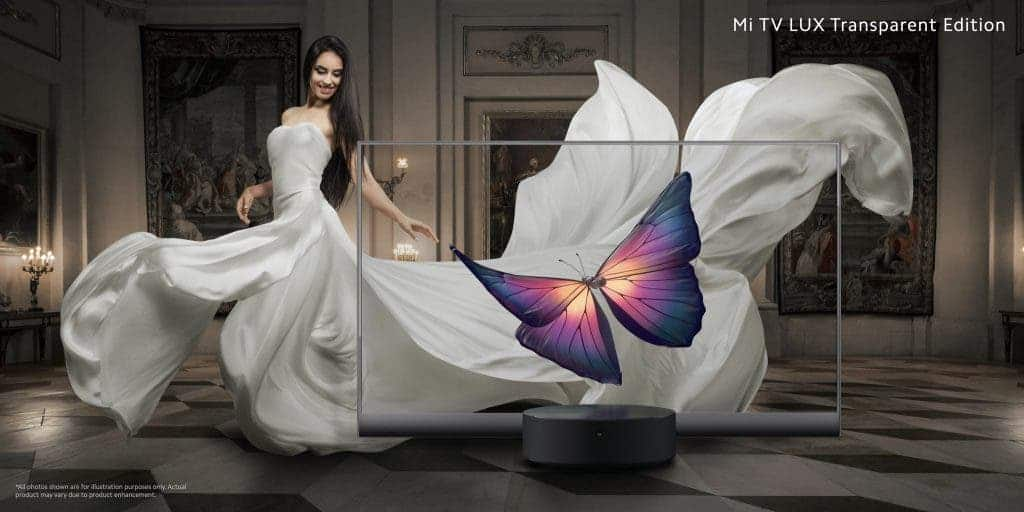 Xiaomi unveils transparent OLED TV
