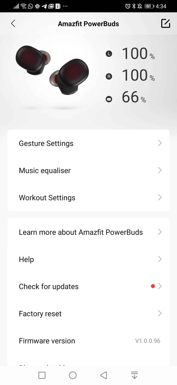 amazfit app settings