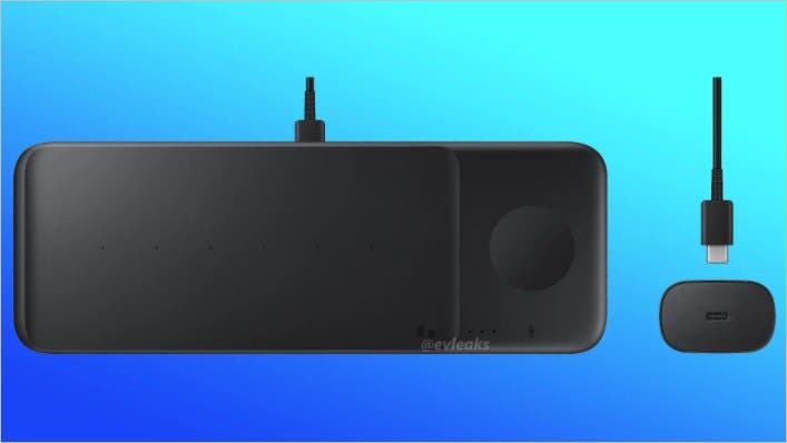 Samsung Wireless Charger Pad Trio emerges in a new leaked render