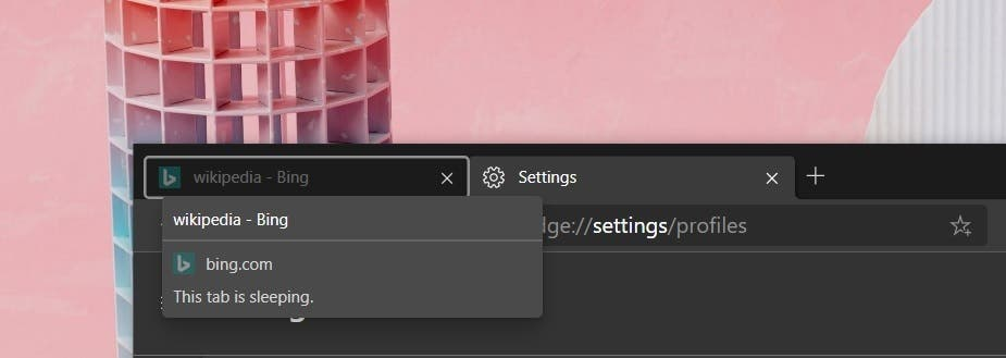 Tab Freeze Microsoft Edge