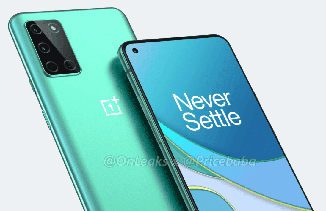 OnePlus 8T renders leak, hints at flat display & 65W charging