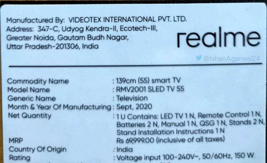 Realme TV 55-inch