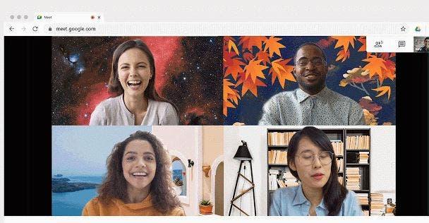 Google Meet Change background