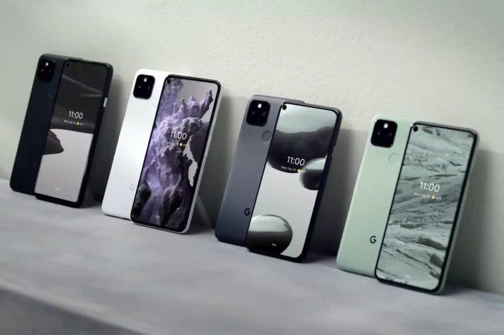 Google Pixel 5 smartphones for selfies