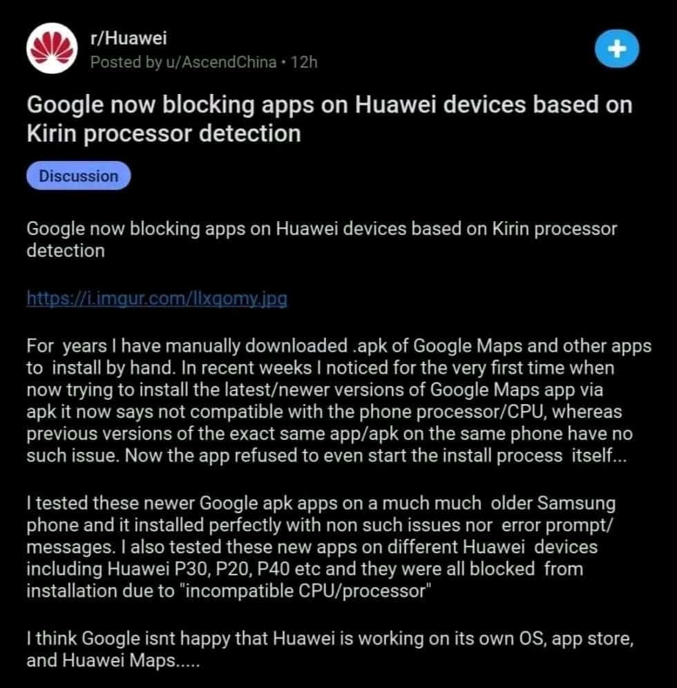 Google has completely blocked Huawei smartphones from manually installing its apps - Gizchina.com