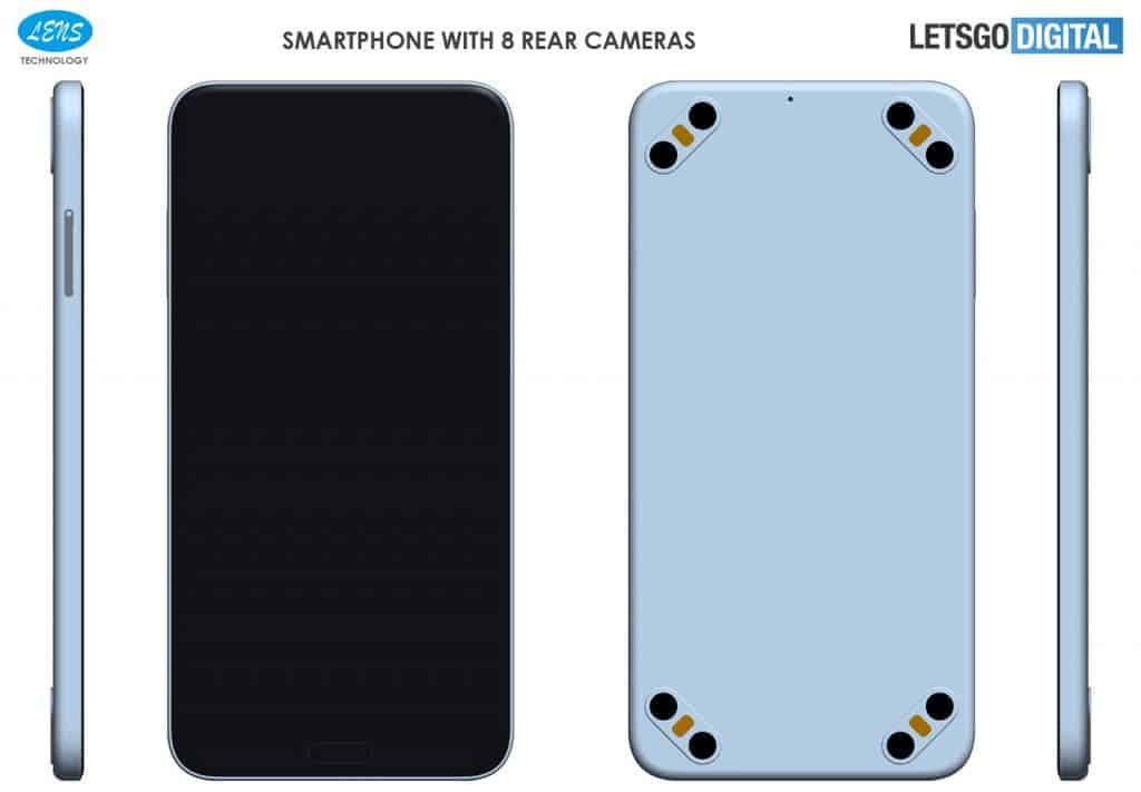 Smartphones with 8 rear cameras