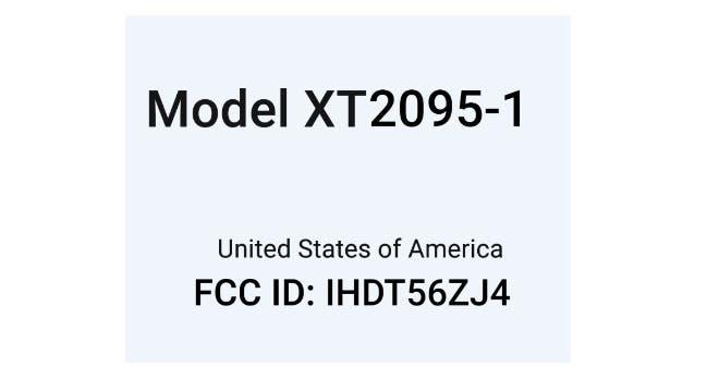 Moto E7 FCC