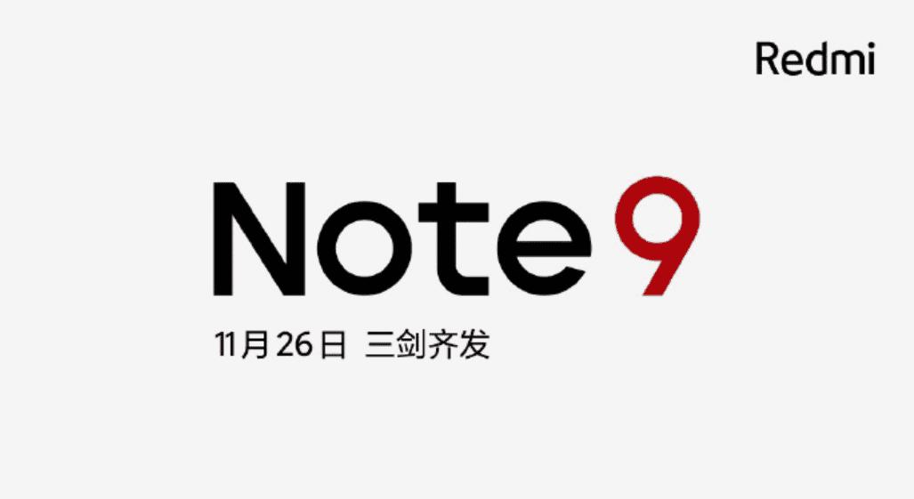 Xiaomi confirms November 26 launch for new Redmi Note 9 smartphones