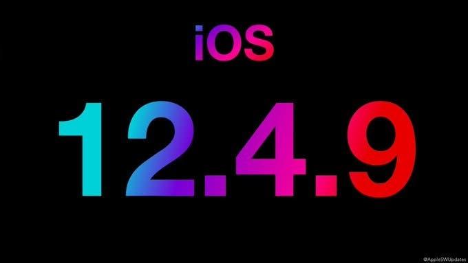 iOS 12.4.9 update