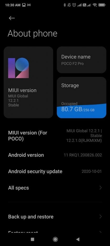 Pequeño F2 Pro Android 11