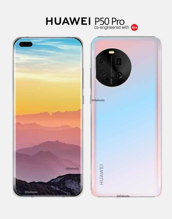 Here's the first image of the upcoming Huawei P50 Pro - Gizchina.com