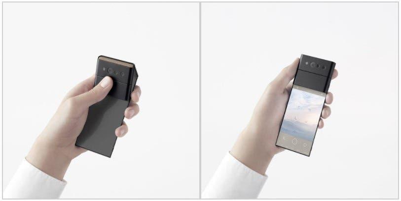 OPPO smartphone τριών σταδίων πτυσσόμενης οθόνης
