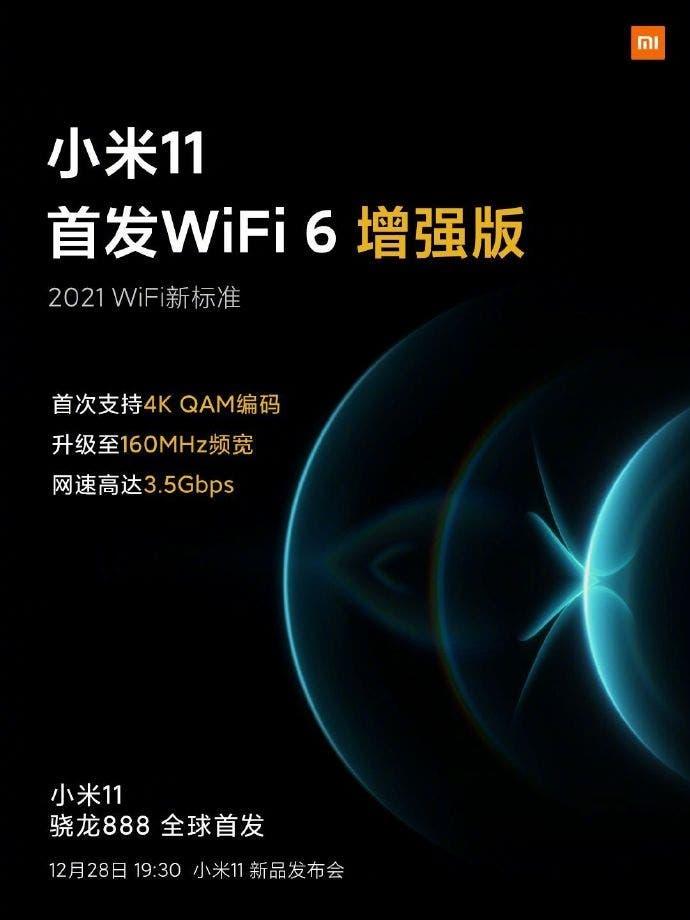 Xiaomi mi 11 wifi 6