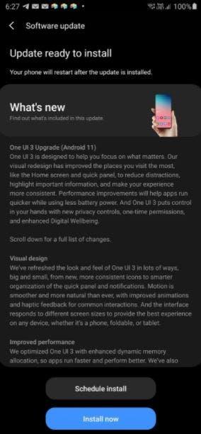 Galaxy S20 FE update