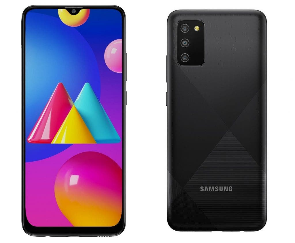 Galaxy M02s front back