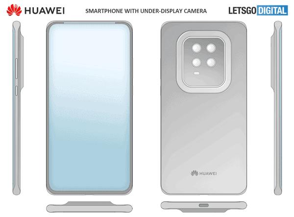 Huawei under-screen camera