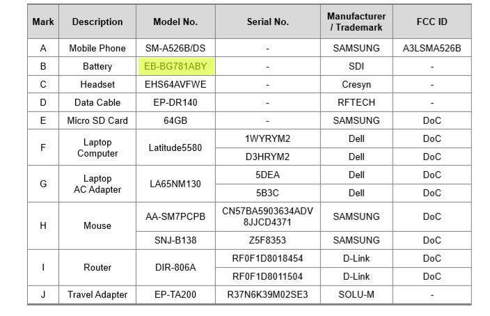 Galaxy A52 5G Battery