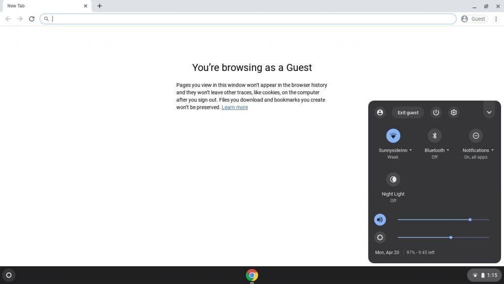 Chrome OS guest mode