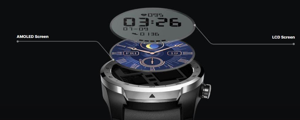 Ticwatch Pro S display