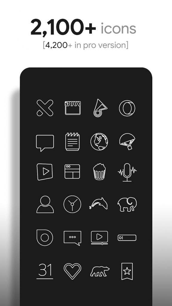 Lines icon pack