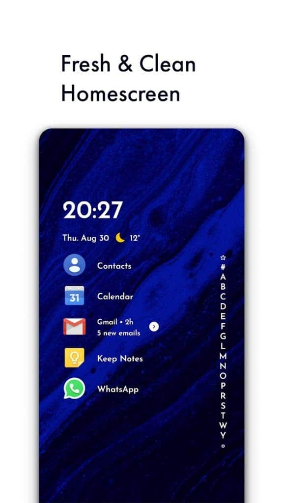 Niagara Launcher best free android apps