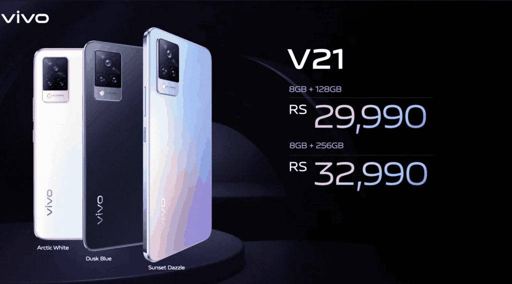 Vivo V21 India