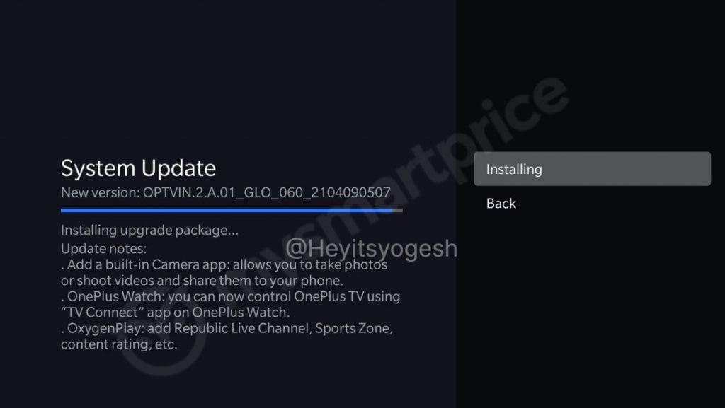 OnePlus Q Series Smart TV update