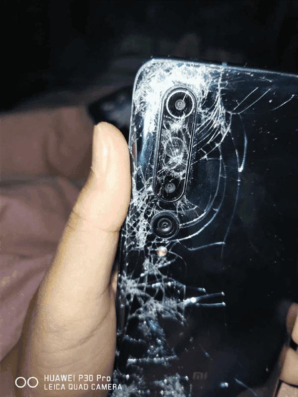 Xiaomi Mi 10 damaged