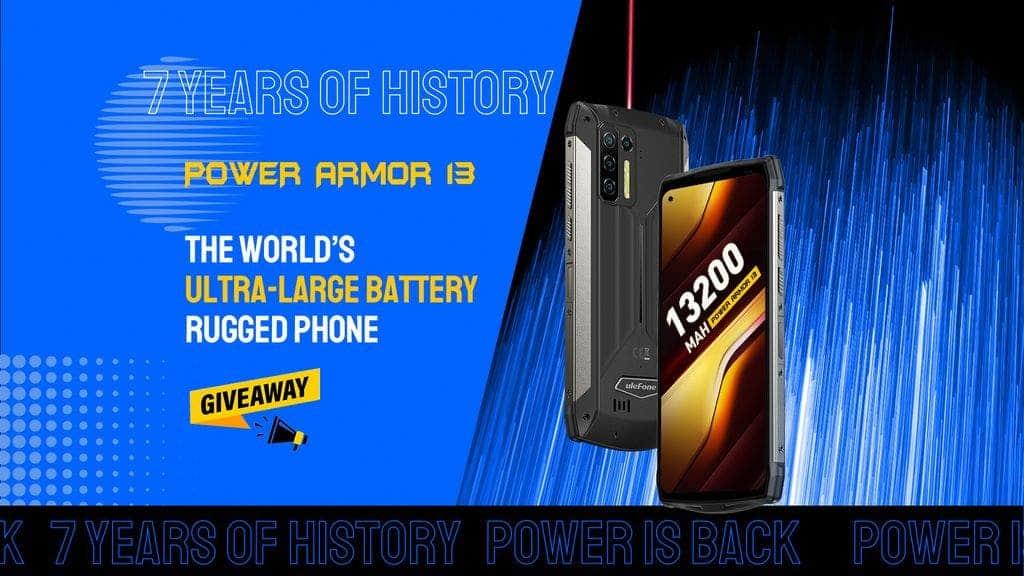 具有 13200大电池的 ULEFONE POWER ARMOR 13 即将推出