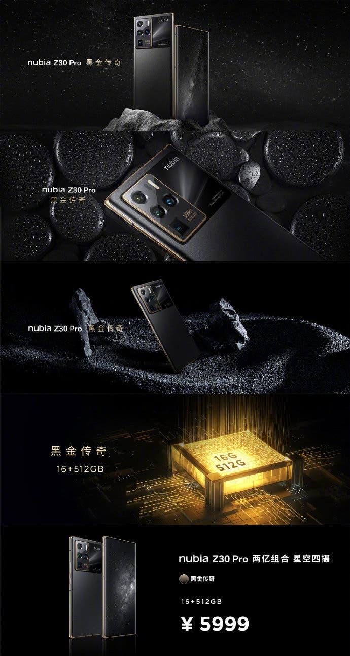 Nubia Z30 Pro Black Gold Legend Limited Edition
