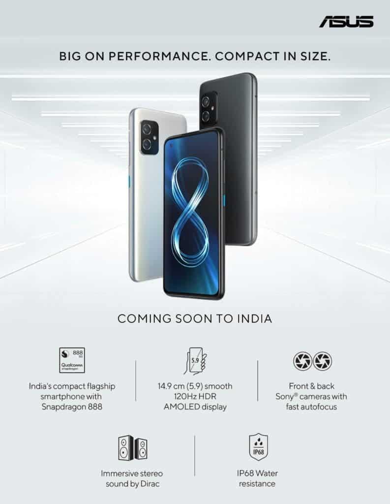 ASUS Zenfone 8 Series India Teaser